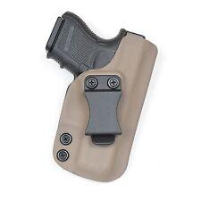 Badger State Holsters- Glock 26/27 IWB Kydex Holster G26 G27 Flat Dark Earth FDE