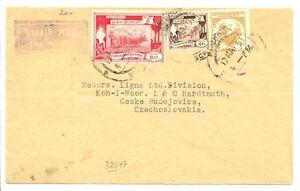 BURMA 1951  FLIGHT COVER  TO  CZECHOSLOVAKIA   F/VF