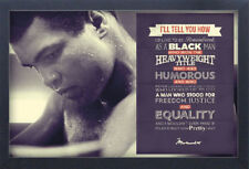 MUHAMMAD ALI QUOTE 13x19 FRAMED GELCOAT POSTER GREATEST BOXING WORLD CHAMPION!!!