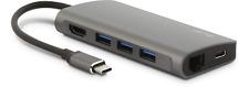 LMP USB-C 8-Port mini Dock Space Gray HDMI, USB 3.0, Ethernet, SD/MicroSD 15954