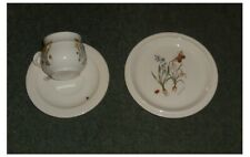 More details for 4 x runtons pottery pickering helen philipps  tea trios - cup, saucer & plate