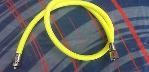Used 90 cm Yellow Miflex Braided Regulator  Hose  scuba diving rd
