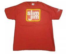 Vintage Slim Jim Shirt Mens Size Large ConAgra Food Act ll Red 90s? Hanes Beefy