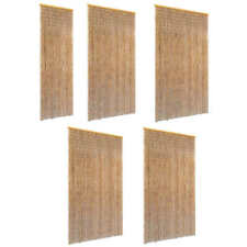 vidaXL Cortina para Puerta de Bambú contra Insectos Marrón Diferentes Tamaños