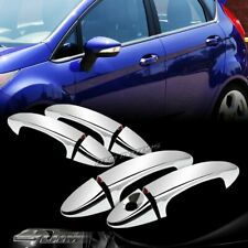 For 10-16 Ford Fiesta Mirror Chrome Door Handle Cover Cap Trim Kit 8PCS