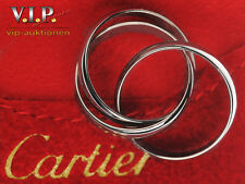 CARTIER TRINITY BAGUE LTD. EDITION 1999 WHITE GOLD RING Gr.53 18K/750er WEIßGOLD