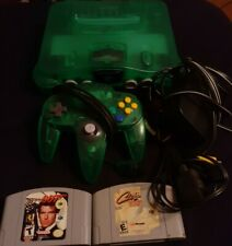 Jungle Green Nintendo 64 N64 Video Game Console TIGHT STICK Controller + 2 Game