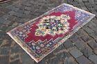 Bohemian rug, Handmade wool rug, Turkish vintage rug, Carpet | 2,0 x 3,7 ft