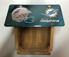 Miami Dolphins License Plate Bird Feeder