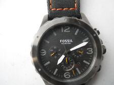 Fossil chronograph men's black rubber band,quartz,Analog& battery watch. Jr-1467