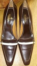 Brooks Brothers women's pumps heels dark brown size 9 Italy Dress Shoes  Leather