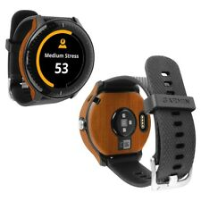 Skinomi Light Wood Skin+Clear Screen Protector for Garmin Vivoactive 3 Music