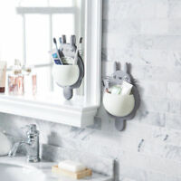 Totoro Bathroom Toothbrush Holder Wall Mount Suction Cup Toothpaste Storage Case