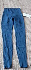 Lululemon Wunder Under Mesh High Rise Size 4 Green Full-On Luon Leggings