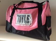 New Title Boxing Club Sport Bag Pink 17 x 12x 10 Inches Boxing / Mma