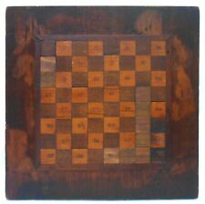 EARLY 20TH C VINT RAISED SURFACE PARQUET WOODEN GAMEBOARD W/HAND WRITTEN NUMBERS