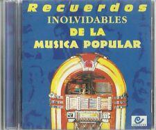 Recuerdos Inolvidables De La Musica Popular  Latin Music CD