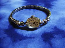 Vtg Hamilton Lancaster PA 10k Gold Bezel Diamonds Ladies Watch loose hand repair