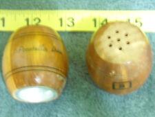 Pocatello, Ida Idaho Salt & Pepper Shaker Set Wooden Round