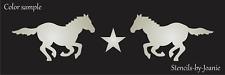 "Stencil 8"" Running Horse Mustang Star Border Country Farm Western Art Diy Signs"