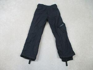 Spyder Pants Youth Large Size 14 Black Gray Snow Winter Outdoors Kids Boys