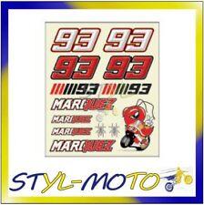 STICKER MARQUEZ MARC #93 AUTOCOLLANT 9cm MOTO GP 93 CHAMPION DU MONDE QA005