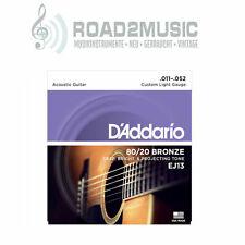 1 Satz Daddario EJ-13 Custom Light 11-52 Bronze Akustik Gitarre Saiten
