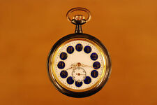 Antique Swiss gunmetal erotic automaton  pocket watch circa 1890 BREVET 24340