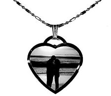 CUSTOM MADE PERSONALIZED  PHOTO ETCHING HEART DOG TAG / DOGTAG PICTURE PENDANT