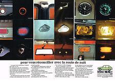 PUBLICITÉ  1970   RENAULT 16 TS  confort de nuit  (2 pages)