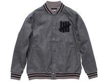 Undefeated Fleece Varsity Jacket Large Charcoal Grey SB Dunk Supreme 5 Strikes