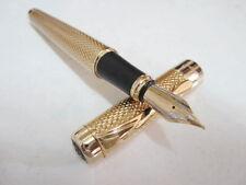 Classic gold metallic Engraved super body fountain pen G – Free gift box