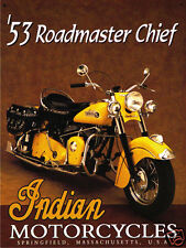 VINTAGE STYLE RETRO METAL PLAQUE :Indian Motorcycles'53 Roadmaster Chief Sign/Ad