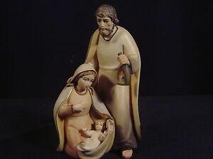 Holz Krippenfiguren,Set lasiert Artis Krippe. Hl.Familie 12 cm (3.Teilig)
