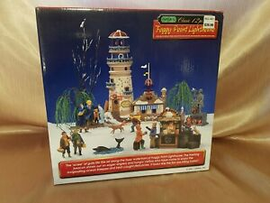 2001 Lemax Foggy Point Lighthouse Christmas Village House 12 Piece Set 16245