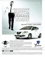 Publicité Advertising 107   2011  Lancia Ypsilon & Vincent Cassel