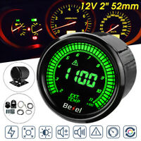 "2"" 52mm Universal 10 Color Exhaust Gas Temperature Temp Gauge EGT Car Meter Kit"