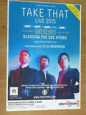 Take That live music memorabilia - Glasgow may 2015 tour show concert gig poster