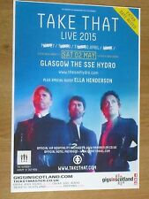 Take That - Glasgow may 2015 tour concert gig poster