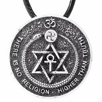 There Is No Religion Higher Than Truth Pendant Theosophy Corded Necklace Atheist