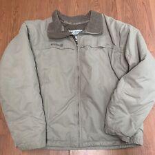Columbia Sportswear Beige Khaki Full Zip Tan Jacket Men's SZ Large
