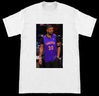 Drake Wearing Dell Curry Jersey At Toronto Raptors Game T-Shirt