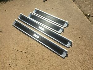 OEM VINTAGE 1975-1979 LINCOLN CONTINENTAL DOOR SILLS MOLDING SET OF FOUR