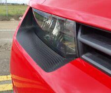 Camaro front bumper headlight insert accents. Pre-cut Carbon Fiber graphic film