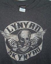 SZ M Winterland Lynyrd Skynyrd T Shirt Gray Skull Wings Design Classic Rock Tee