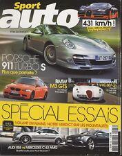 SPORT AUTO n°583 08/2010 PORSCHE 911 TURBO NISSAN 370 Z LOTUS ELISE BMW M3 GTED