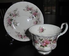 """ROYAL ALBERT BONE CHINA """"LAVENDER ROSE"""" TEA CUP AND SAUCER MADE IN ENGLAND"""