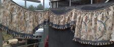 Large beautifully handmade pelmet Bernard Thorp fabric decorated passementerie