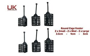UKAS Essentials Round Cage Feeder Combo Sm/Med/Lg - 6pc Pack - Coarse Fishing
