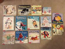 Lot of 14 Children's Winter Snow Books Paperback Classics Snowman Snowday A